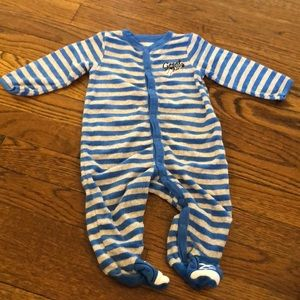 Carters terry cloth footed onesie size 6M